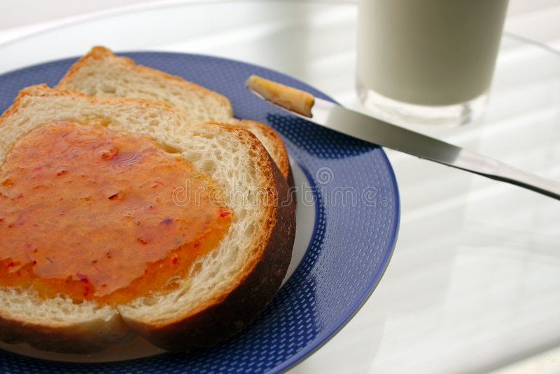 Prima colazione - versione dell'ostruzione fotografia stock libera da diritti