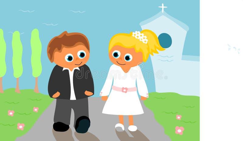 Prima comunione santa illustrazione di stock