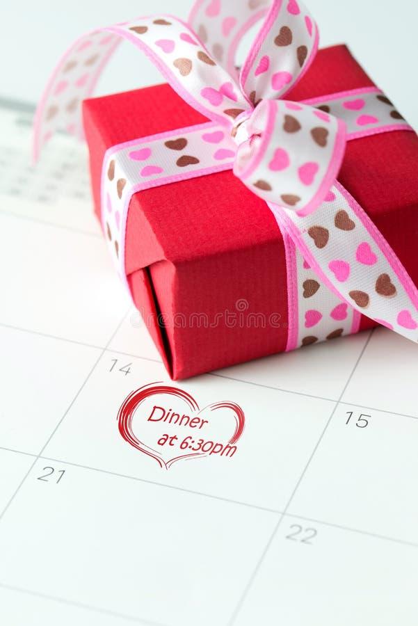 Prima data di San Valentino fotografia stock