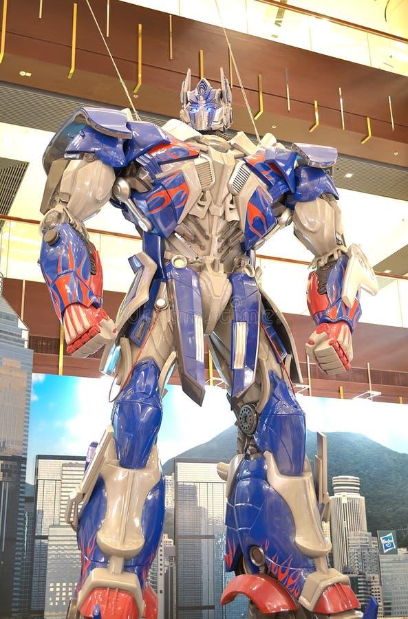 Prima de Optimus de los transformadores foto de archivo libre de regalías