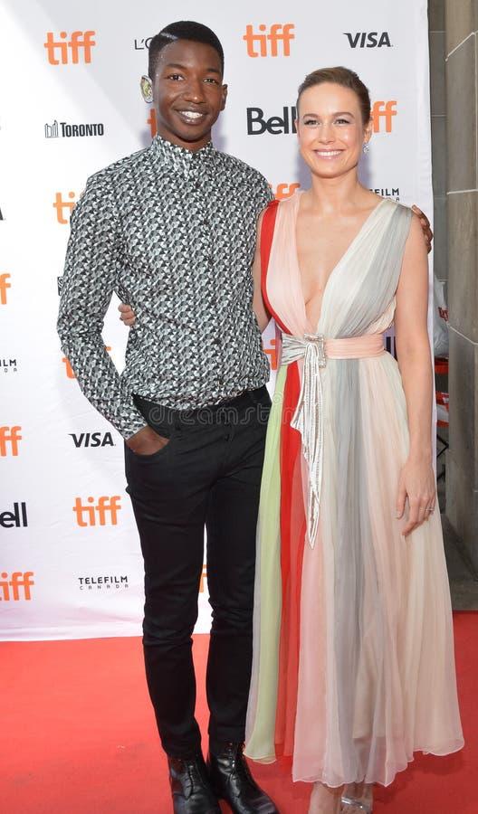 Prima del ` di Unicorn Store del ` di Mamoudou Athie dell'attore e di Brie Larson al festival cinematografico 2017 dell'internazi immagine stock libera da diritti