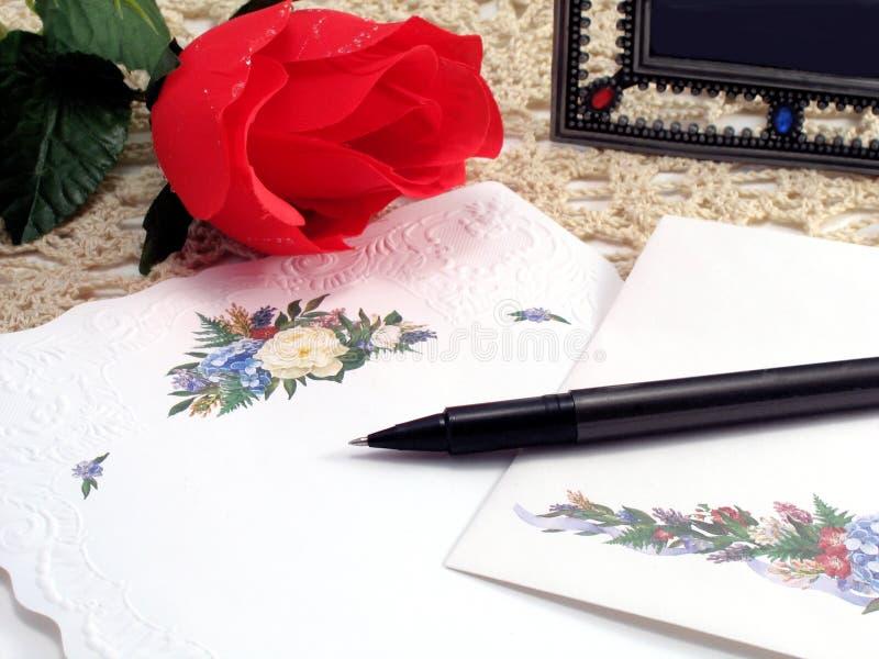 Download Prima del email fotografia stock. Immagine di carta, valentine - 350304