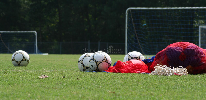 Prima di pratica di calcio immagine stock