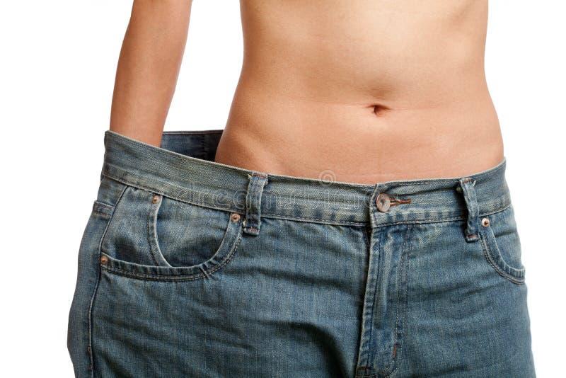 Prima e dopo peso perdente fotografia stock