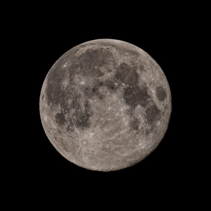 Prima luna piena della primavera, immagine dettagliata di alta risoluzione fotografia stock libera da diritti