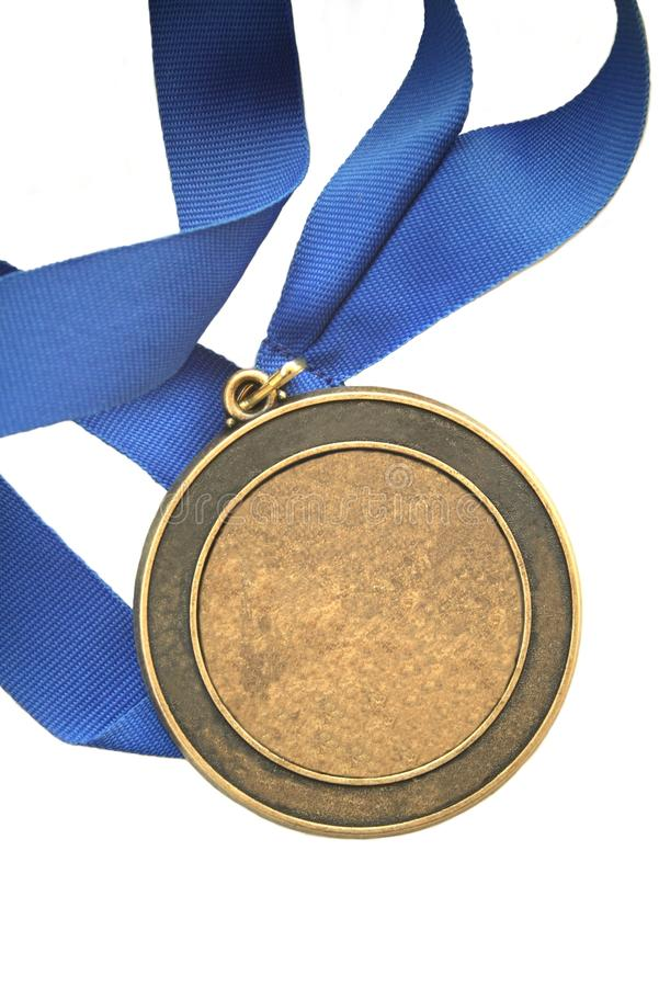 Prima medaglia del campione del posto - aggiunga il vostro proprio testo fotografie stock libere da diritti