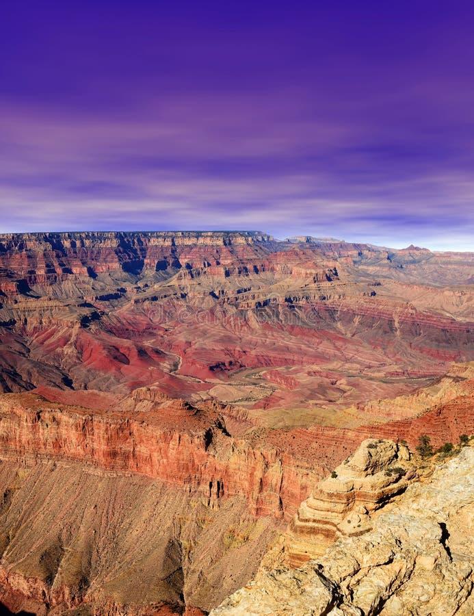 Prima serata Grand Canyon Arizona fotografia stock