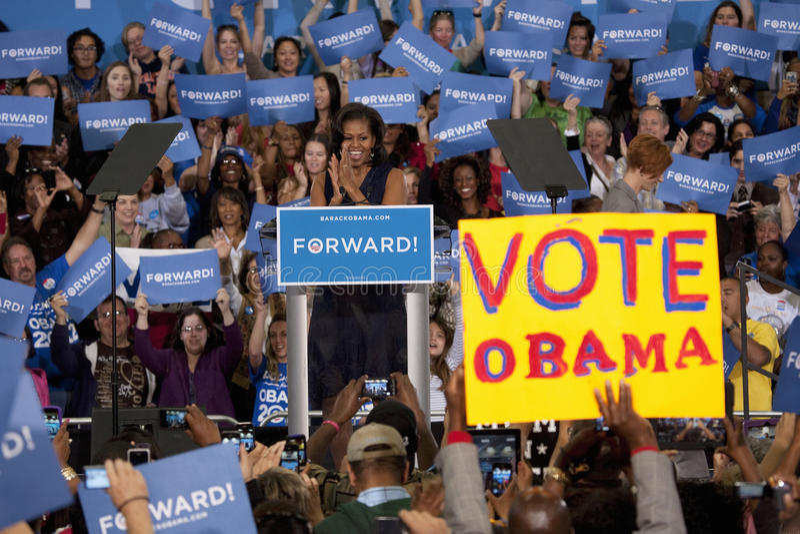 Prima signora Michelle Obama fotografia stock