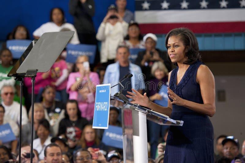 Prima signora Michelle Obama fotografie stock libere da diritti