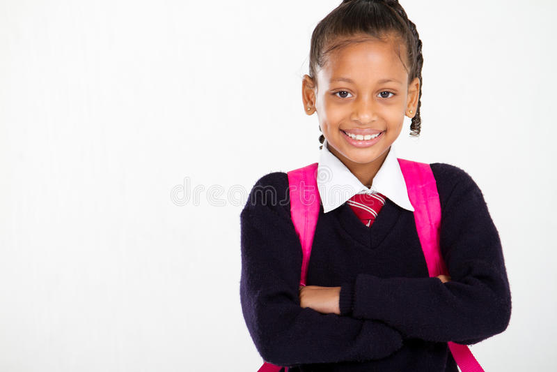 Primair schoolmeisje royalty-vrije stock fotografie