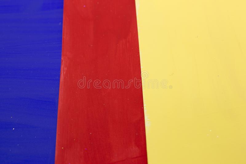 Primaire kleuren gestreepte achtergrond royalty-vrije stock afbeeldingen