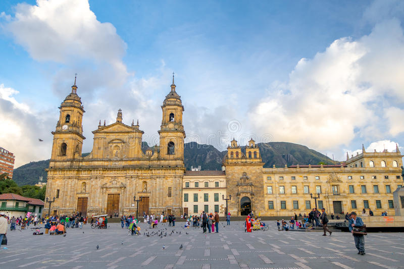 Primary Cathedral of Bogota, historic and royalty free stock photography