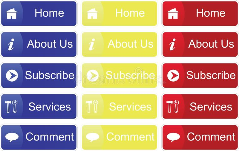 Primary Color Buttons Stock Images