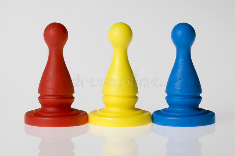 Primary Game pieces royalty free stock image