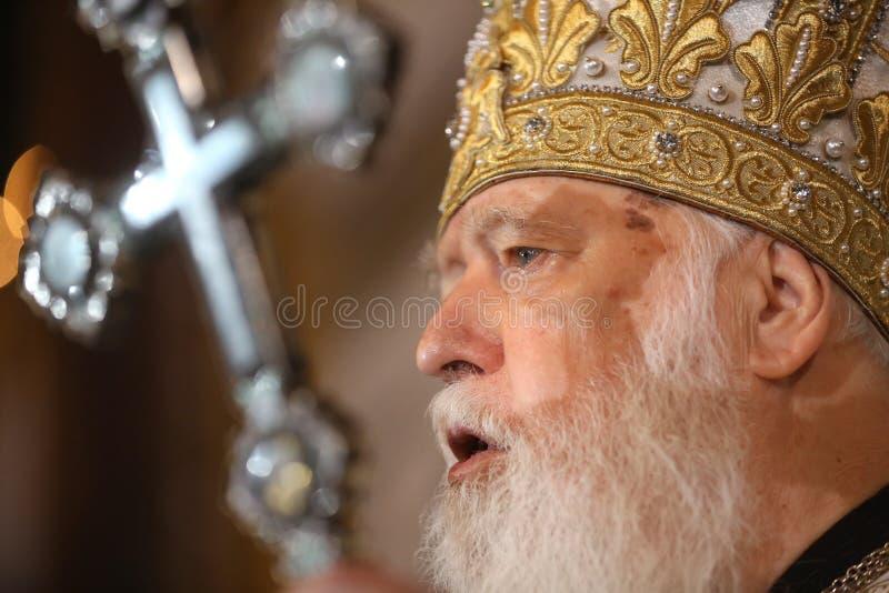 Primata do patriarcado ucraniano Filaret de Kiev da igreja ortodoxa imagens de stock royalty free