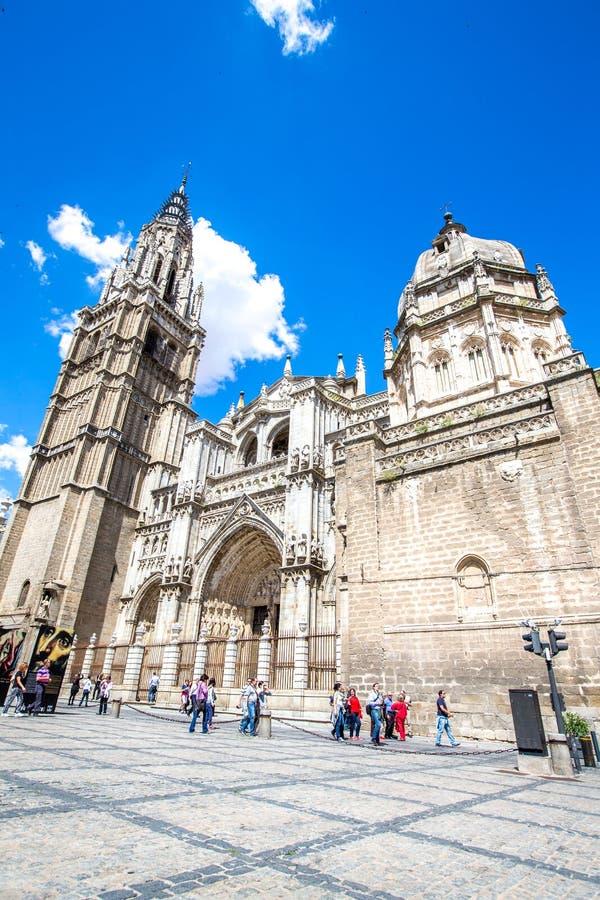 Primatdomkyrkan av St Mary av Toledo, 13th höga århundrade arkivbild