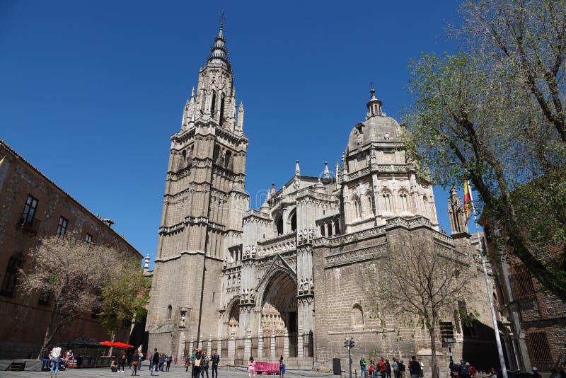 Cathedral Primada Santa Maria de Toledo in Spain stock photos