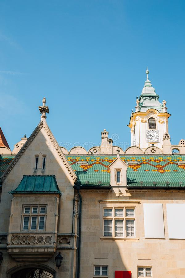 Primate`s Square at old town in Bratislava, Slovakia. Europe royalty free stock images
