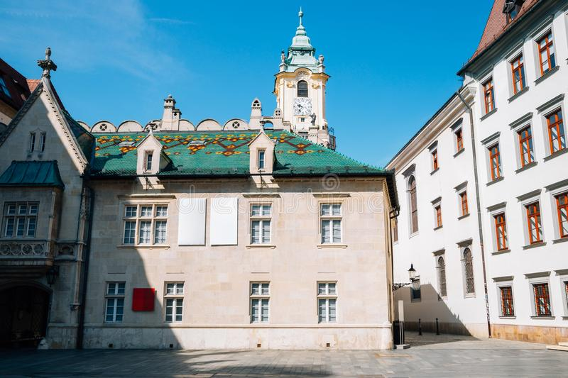 Primate`s Square at old town in Bratislava, Slovakia. Europe stock photography