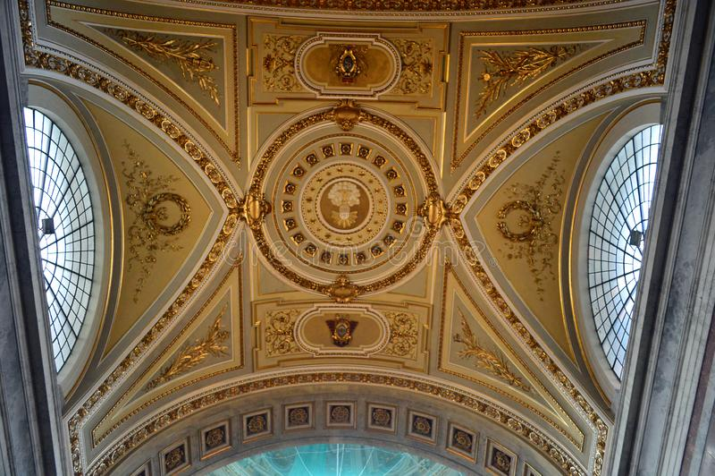 Interior 2 The Esztergom Basilica, Esztergom, Hungary. The Primatial Basilica of the Blessed Virgin Mary Assumed Into Heaven and St Adalbert Hungarian stock photo