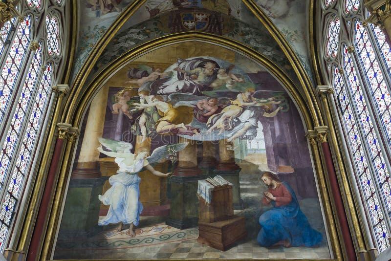 Primatice教堂, Chaalis修道院, Chaalis,法国 免版税图库摄影
