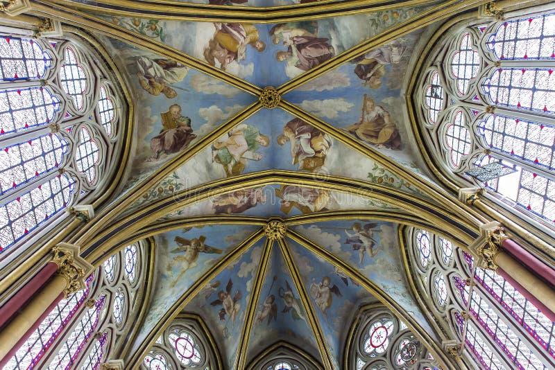 Primatice教堂, Chaalis修道院, Chaalis,法国 免版税库存图片