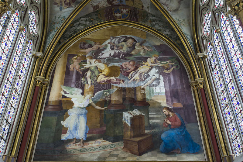 Primatice kapell, Chaalis abbotskloster, Chaalis, Frankrike royaltyfri fotografi