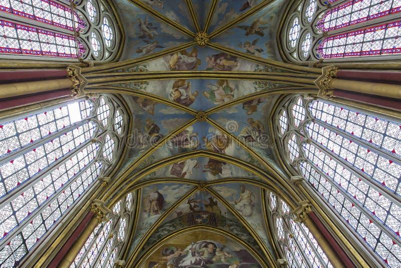 Primatice kapell, Chaalis abbotskloster, Chaalis, Frankrike royaltyfria bilder