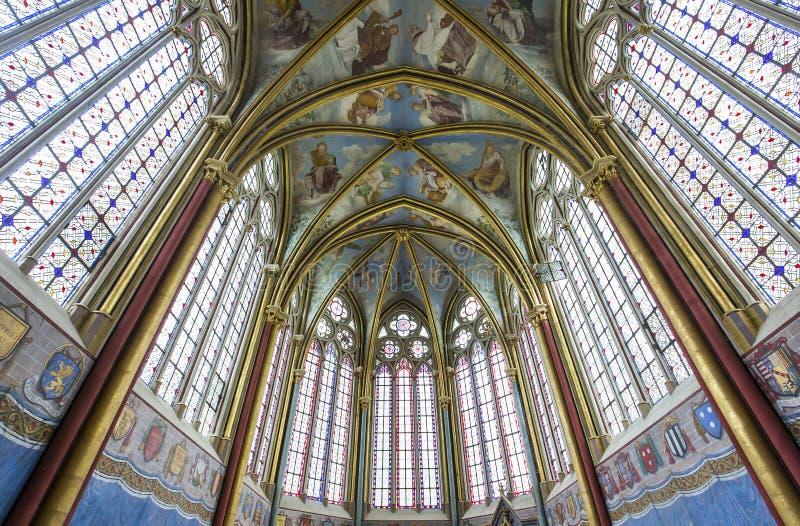 Primatice kapell, Chaalis abbotskloster, Chaalis, Frankrike arkivbild