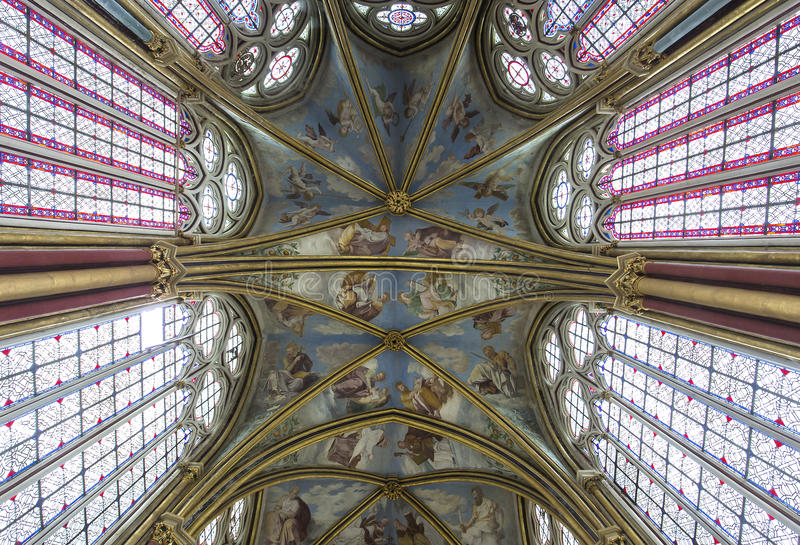 Primaticekapel, Chaalis-abdij, Chaalis, Frankrijk stock foto's