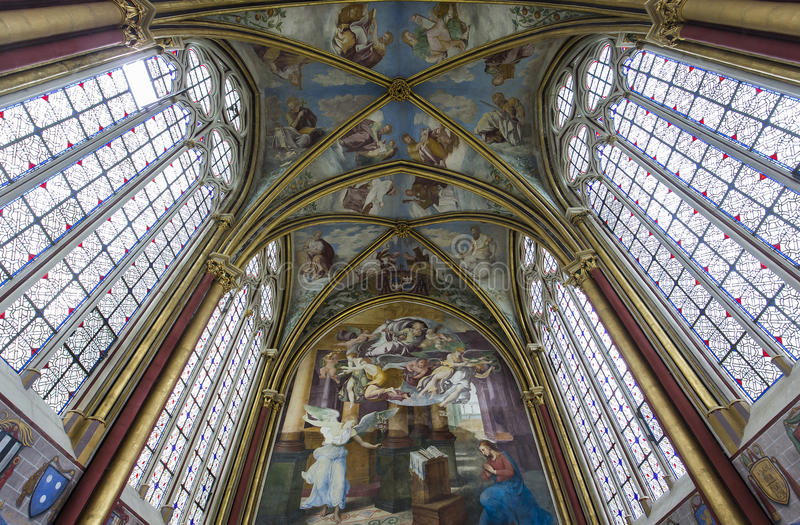 Primaticekapel, Chaalis-abdij, Chaalis, Frankrijk royalty-vrije stock afbeeldingen