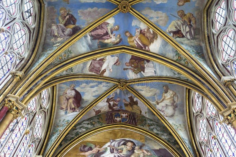 Primaticekapel, Chaalis-abdij, Chaalis, Frankrijk stock foto