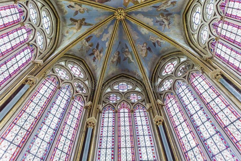 Primaticekapel, Chaalis-abdij, Chaalis, Frankrijk stock afbeeldingen