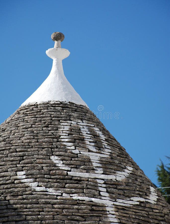 Primative Symbol on Trullo Roof stock images