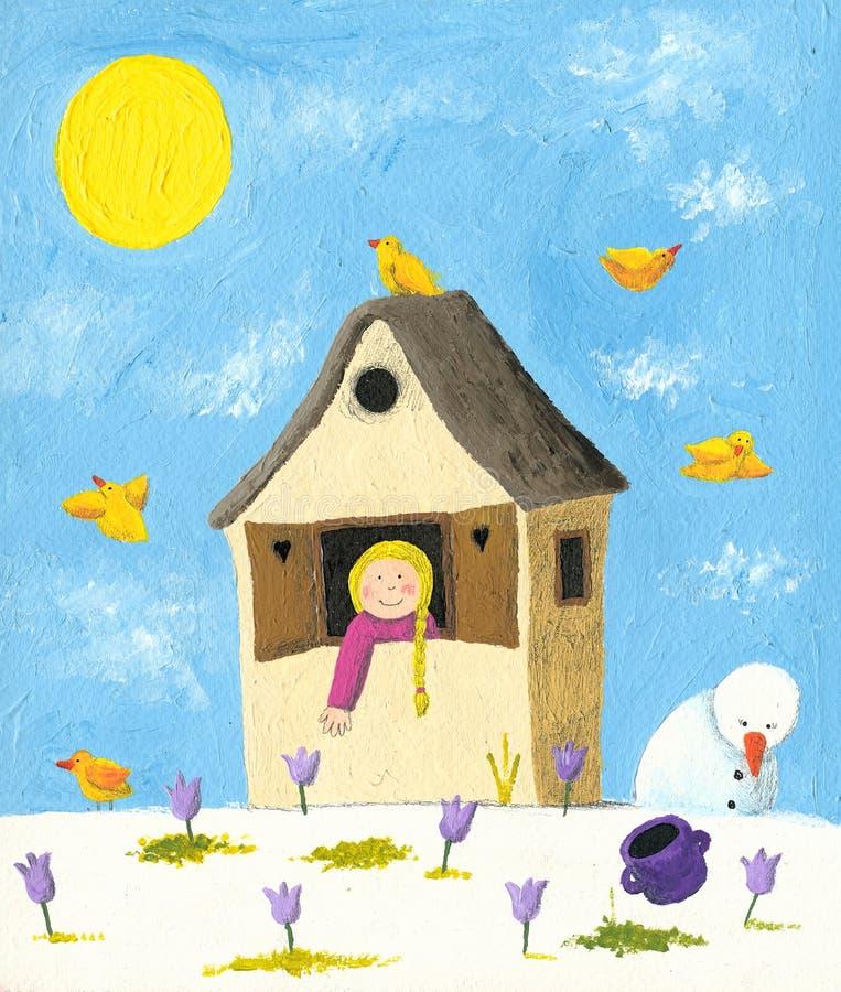 Primavera ilustração stock