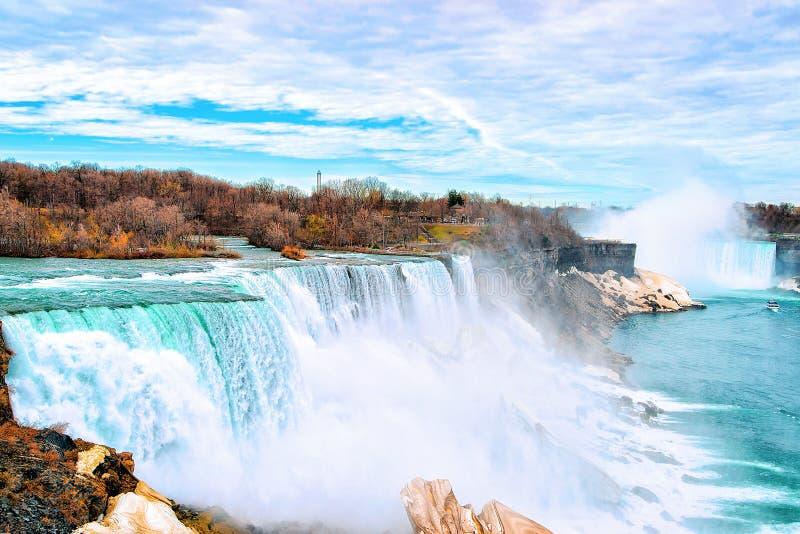primavera adiantada da natureza de Niagara Falls EUA fotos de stock