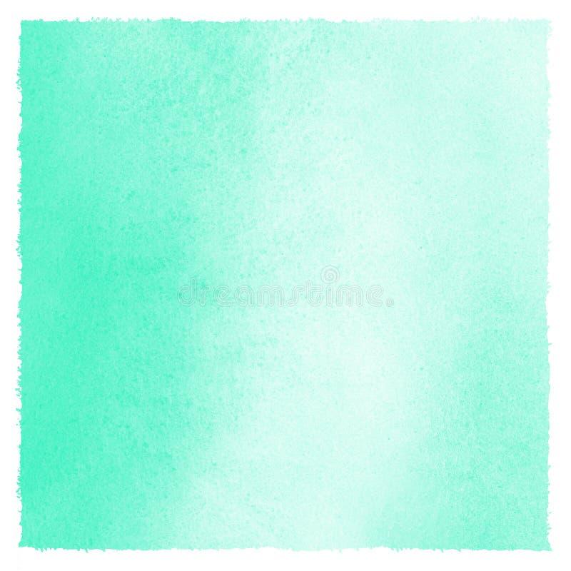 Primavera de la acuarela del verde menta, fondo de Pascua con los bordes artísticos libre illustration