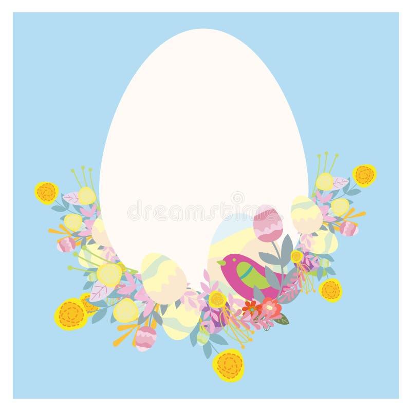 Primavera de la tarjeta de felicitación de Pascua ilustración del vector
