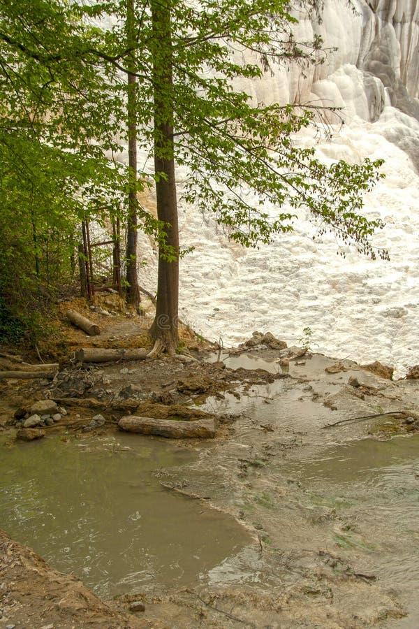 Primavera del agua termal de Bagni san Filippo fotografía de archivo libre de regalías
