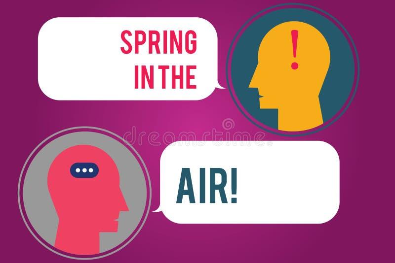 Primavera di rappresentazione del segno del testo nell'aria Bello di stagione di sensibilità naturale concettuale della foto dei  royalty illustrazione gratis