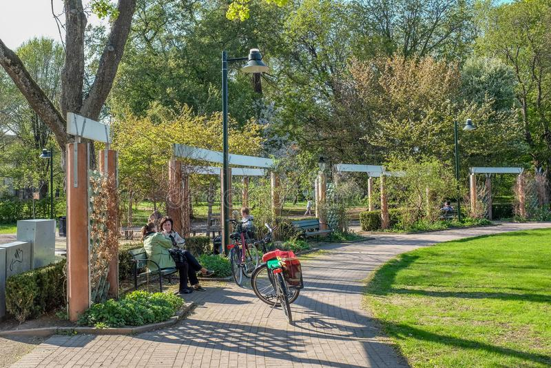 primavera em Linkoping, Suécia imagem de stock royalty free