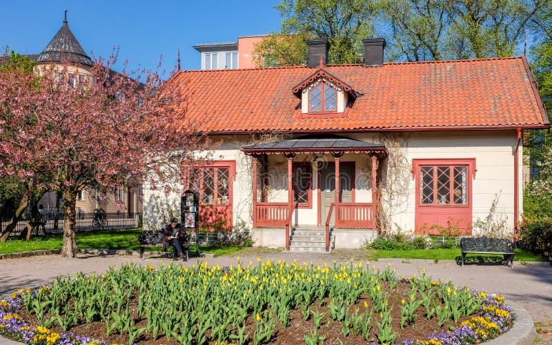 primavera em Linkoping, Suécia foto de stock