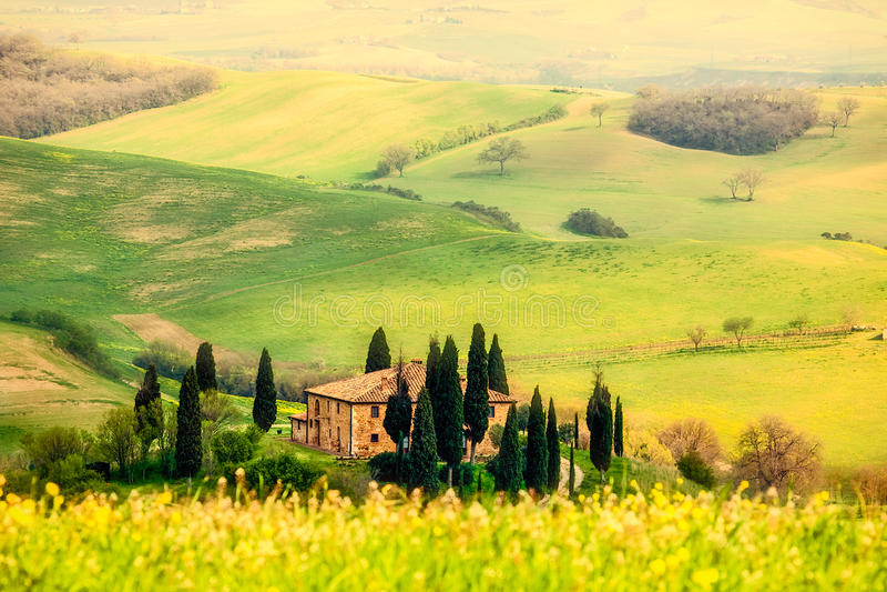 Primavera en la Toscana fotos de archivo libres de regalías