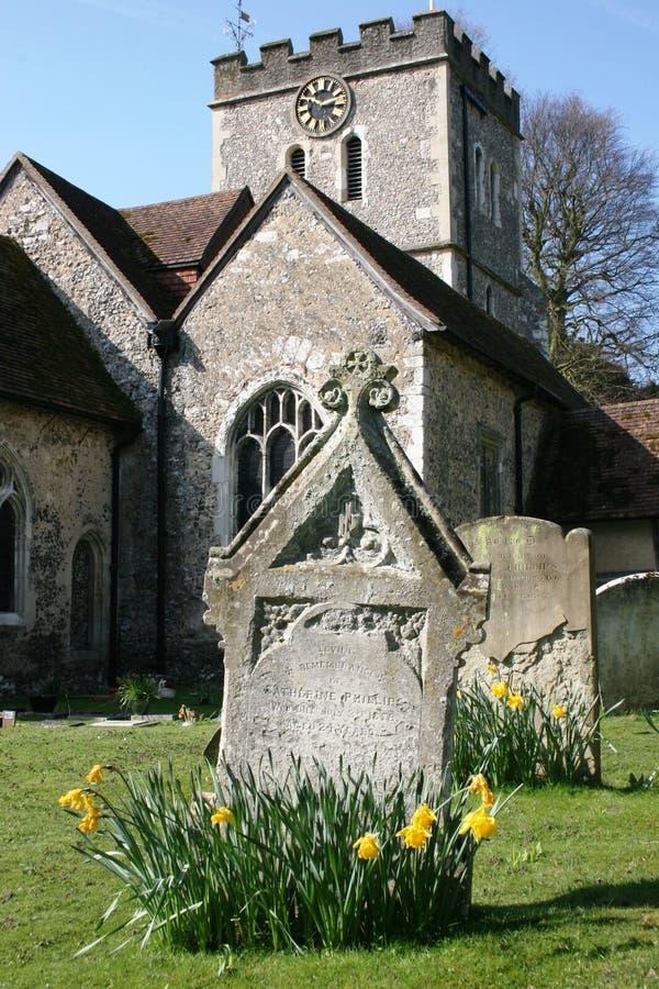 Primavera en un cementerio fotografía de archivo