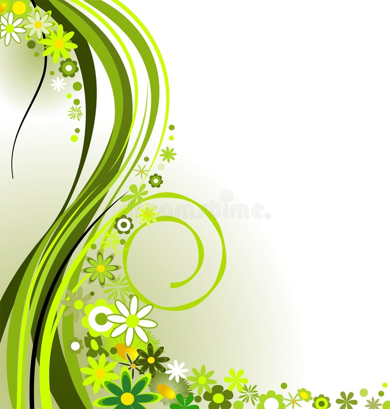 Primavera en verde ilustración del vector