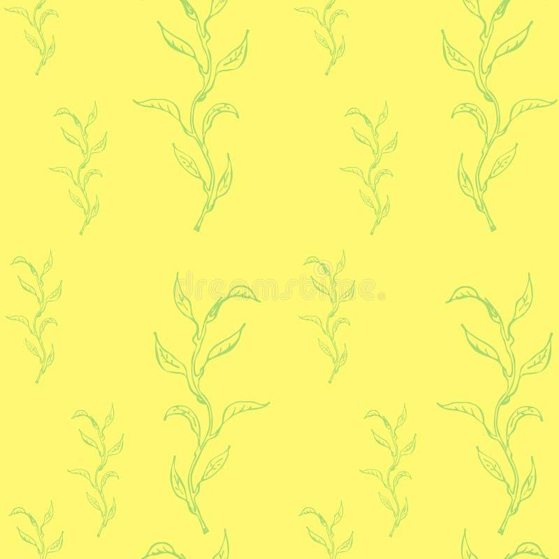 Primavera inconsútil con Willow Branches libre illustration