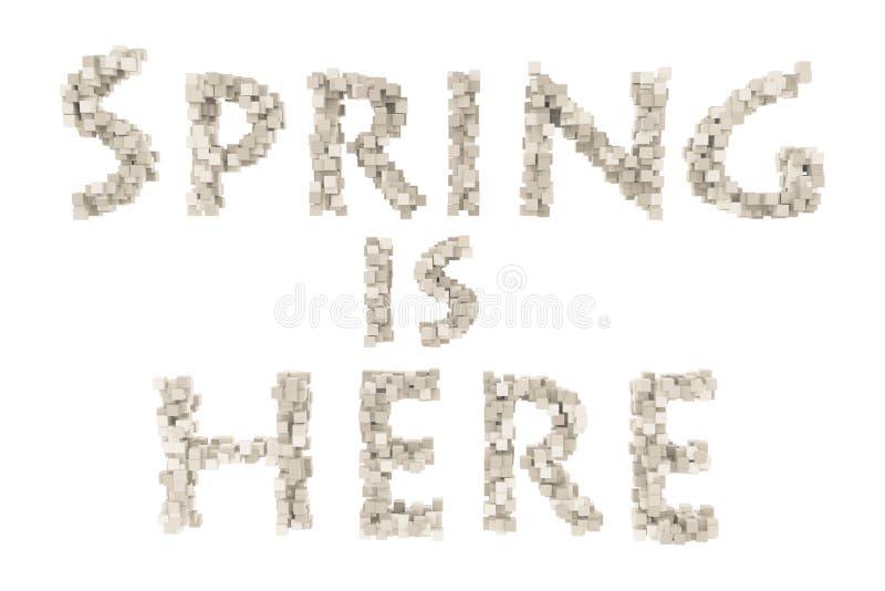 Primavera Letra quilling del tema de la primavera de la colección quilling de las fuentes Hola primavera foto de archivo libre de regalías
