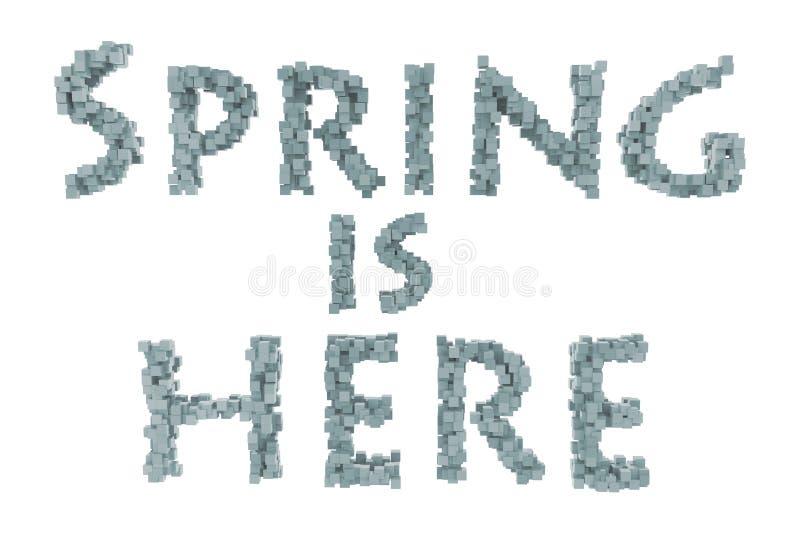 Primavera Letra quilling del tema de la primavera de la colección quilling de las fuentes Hola primavera imagenes de archivo