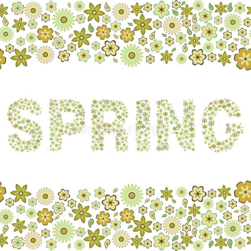 Primavera, modelo inconsútil floral, ilustración del vector