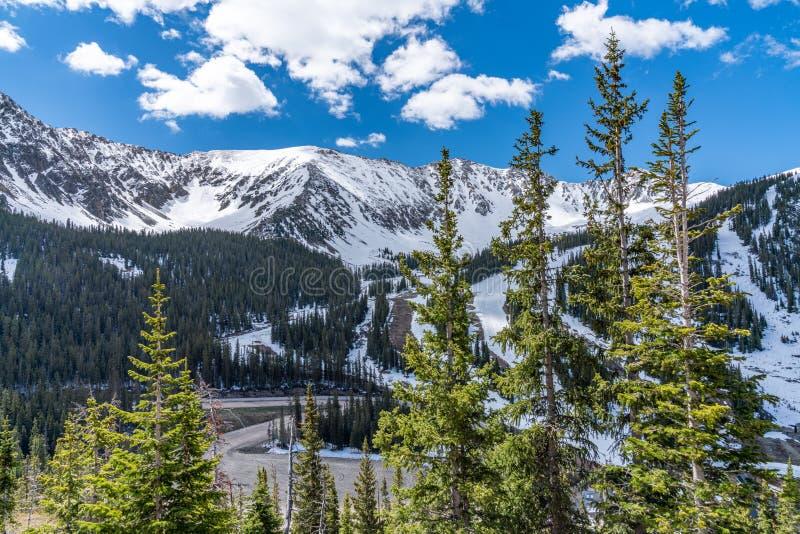 primavera na passagem de Loveland, Colorado fotos de stock